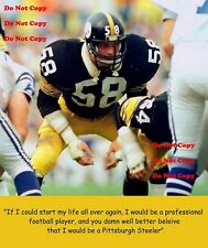 137002d5a22 Jack Lambert Quote Pittsburgh Steelers 8X10 PHOTO Man Cave Sign PIC