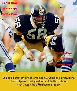 Jack Lambert Quote Pittsburgh Steelers 8X10 PHOTO Man Cave Sign PIC BAR Garage