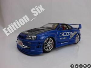 KenToys 1:24 NISSAN SKYLINE R34 GTR Nismo Blitz Replica Drift tuner Blue a