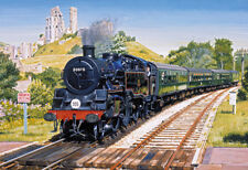 Gibsons - 500 PIECE JIGSAW PUZZLE - Corfe Castle Crossing Steam Train