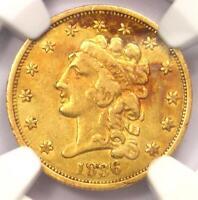 1836 Classic Gold Quarter Eagle $2.50 - NGC XF40 - Rare Coin - $910 Value!