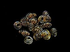 20 Pcs -  9mm Gold Plated Lantern Coil Beads Jewellery Findings Craft UK  B83