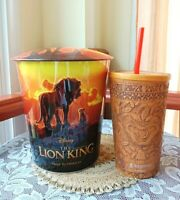 The Lion King Tin Popcorn Bucket 64 oz Cup 22 oz Theater Movie Collectible New