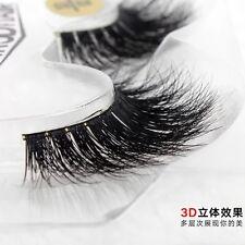100% 3D Mink Fur False Eye Lashes Flutter Individual Hand Thick Long UK shipment