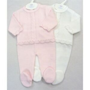 stunning knitted Spanish dandelion baby girl 2 piece suit occasion casual wear