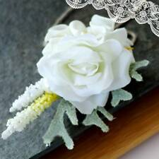 Wedding Bridal Groom Calla Lily Artificial Flower Groomsman Party Brooch Corsage