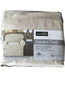 Sure Fit Chair Slipcover Sueded Twill Taupe New!