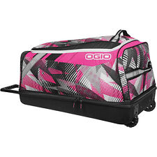OGIO SHOCK WHEELED BAG MOTOCROSS GEAR BAG BOLT PINK LUGGAGE BAG BIKE UTV ATV