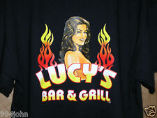 T-SHIRT FROM LUCY'S BAR AND GRILL AT THE LUCKY CLUB CASINO SIZE LARGE  New!!