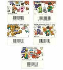Hong Kong Chinese Idioms and Their Stories barcode single B stamp set MNH 2011