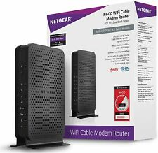 Wifi Netgear N600 Cable Modem 3 Router Docsis 0 8x4 C3700 Combo Xfinity Certifie