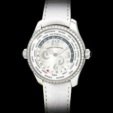 Girard Perregaux Ladies Diamond ww.tc. World Timer Automatic. Stunning White MOP