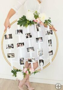 Big Golden Floral Hoop Wall Art