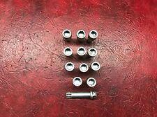 2005 RENAULT MEGANE 1.5 DIESEL MANUAL WHEEL LOCKING NUTS X 11 & KEY