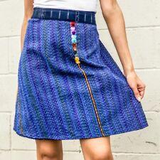 Guatemalan Handmade Colorful Wrap Skirts One Size Huipil Boho Style Aqua