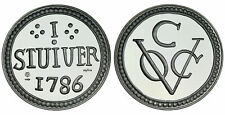 Netherlands VOC - 1 oz Proof .925 silver medal -  Stuiver Ceylon 1786 in capsule
