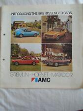 AMC range brochure 1975 USA market large format
