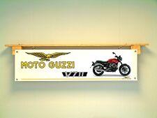 Moto Guzzi v7 II Motorcycle Bannière Atelier Garage PVC sign