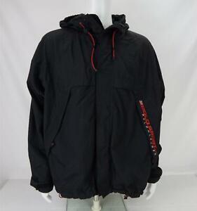 Polo Sport Ralph Lauren Spellout Nylon Hooded Jacket Black/Red Men's XL