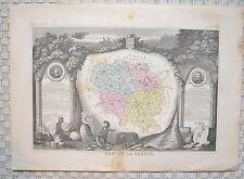 Département de la Creuse - Levasseur - Carte géographie ancienne - 1849 - France