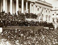 "1865 Abraham Lincoln Inauguration Speech Vintage Photograph 8.5"" x 11"" Reprint"