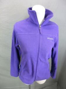 Columbia Size S Womens Purple Full Zip Secured Pocket Outdoor Fleece Jacket T334