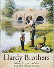 "10"" x 8"" HARDY BROTHERS FISHING TACKLE ANGLER ANGLING METAL PLAQUE TIN SIGN N215"