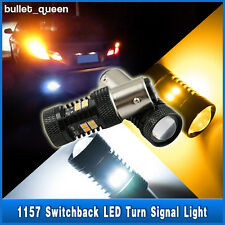 2x 1157 BAY15D Switchback White/Amber 3030 16-LED Turn Signal Lights Dual Color