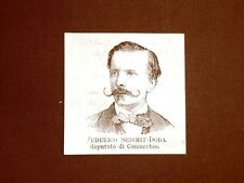 Deputato nel 1877 Onorevole Federico Seismit-Doda di Comacchio