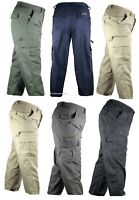 Mens Mian Trousers Elasticated Cargo Combat Multi Pocket Long Pants Bottoms