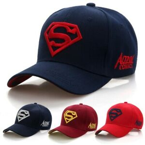 Superman Style Baseball Cap NEW UK Seller Super Hero Man Superhero
