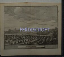 1727 Engraving View of Dunblane, Scotland -Les Delices de la Grand Bretagne