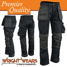 Men Work Cargo Trouser Black Heavy Duty Multi Pockets W:36 - L:31 like Apache