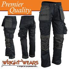 Men Work Cargo Trouser Black Heavy Duty Multi Pockets W:30 - L:31 like Apache