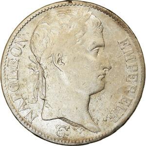 [#55] Coin, France, Napoléon I, 5 Francs, 1810, Paris, VF(20-25), Silver