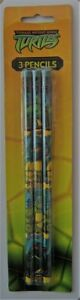 CRAFT-NOVELTY -PENCILS  2 x pkts of 3 Teenage Mutant Ninja Turtle Pencils