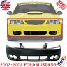 Front Bumper Cover Primed w/ Fog Light Holes For 03-04 Ford Mustang Cobra Model