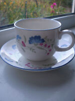Royal Doulton Windermere Tea Cup & Saucer Expressions 2nd Quality China British