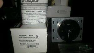 Arrow Hart 8450N NEMA 15-50R 50 Amp Straight Blade Flush Receptacle NOS
