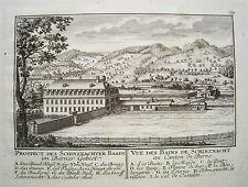 Schinznach-Bad Schenkenberg  Aargau  Schweiz Kupferstich von Herrliberger 1758