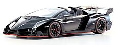 Lamborghini Veneno Roadster 2013 Noir Noir Red Line 1:18 Kyosho