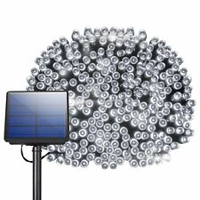 72ft 200 LED Solar String Lights 7 Mode Outdoor Lawn Decoration White Waterproof