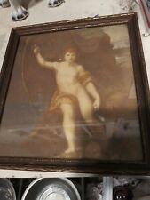 Raffaello Sanzio Print john the Baptist antique w frame gimbel brothers