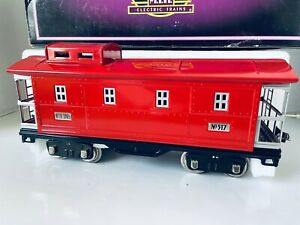 MTH Electric Trains Standard #517 Red Caboose MIB Tinplate Traditions Lighted