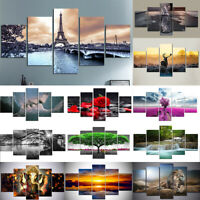 5Pcs Set Modern Abstract Canvas Wall Decor Painting Art Home Living Room Mural