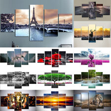 5Pcs Canvas Modern Abstract Wall Decor Painting Art Home Living Room Mural Set