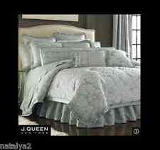 J. Queen Rhapsody King Comforter Sheets Euros & 4 Pillows 21Pc Set Pale Aqua