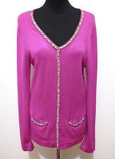 1-2-3 PARIS Cardigan Donna Viscosa Rayon Woman Sweater Cardigan Sz.S - 42