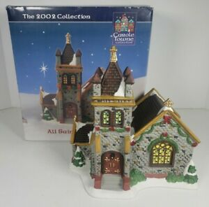 Carole Towne All Saints Cathedral Lighted House 2002 Lemax #MA22084F w/Box
