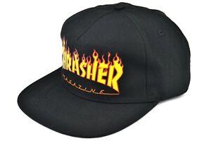 THRASHER MAGAZINE - FLAME LOGO SNAPBACK CAP - 100% AUTHENTIC